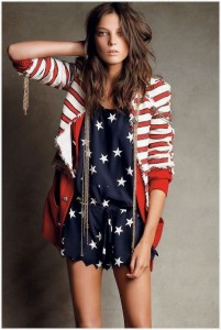 Ultra patriotic outfit