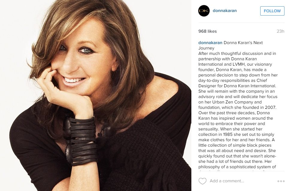 Courtesy of Donna Karan on Instagram