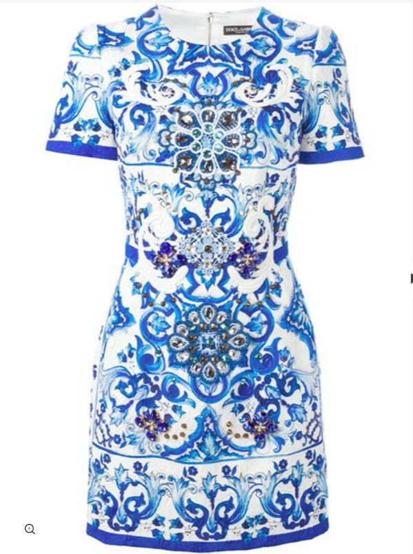 Beautiful D&G dress for your Christmas list. Courtesy of Farfetch