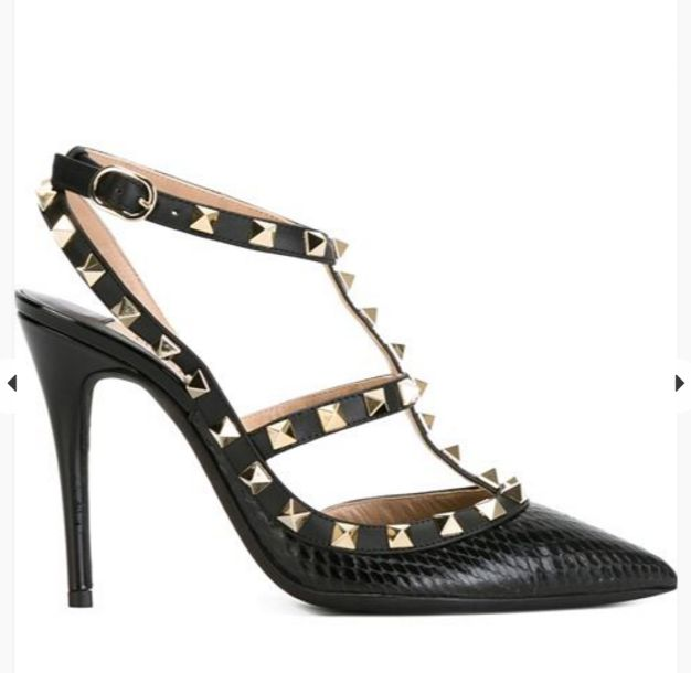Valentino Rockstud pumps for your christmas list. Courtesy of Farfetch